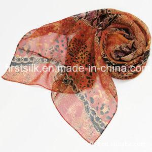 100%Silk Silk Chiffon Printed Scarf pictures & photos