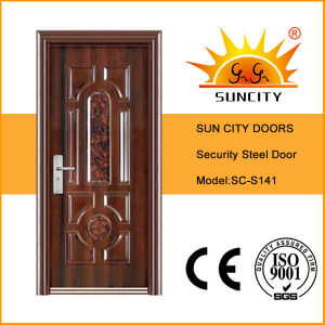 High Quality Exterior Safety Iron Stainless Steel Door (SC-S141) pictures & photos