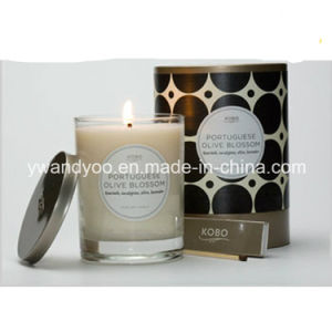 Wholesale Scented Black Glass Jar Candle pictures & photos
