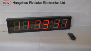 """4"""" 6-Digit LED Digital Wall Clock (FDC-406) pictures & photos"""