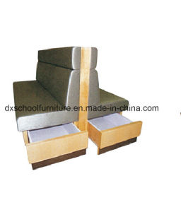 PU Leather Duble Sofa Booth with Drawer pictures & photos