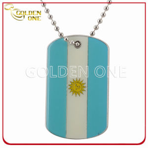Patriotism Argentina Flag Metal Dog Tag with Color Filling pictures & photos