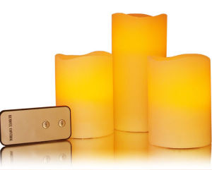 LED Candles with Remote Control for Party Bar Village Floor Christmas Decorative Birthday Gift Dinner Votive pictures & photos