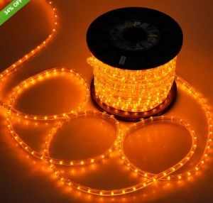 "150′ Orange LED Rope Light 2 Wire 3/8"" 120 Volt"