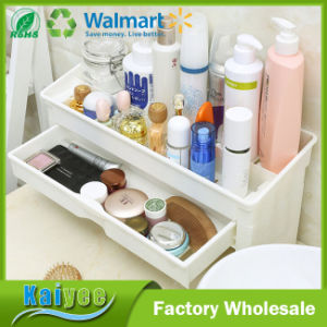 Multifunctional Plastic Double Deck Kitchen or Bathroom Storage Shelf pictures & photos