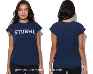 High Quality Ladies Cotton Tee with Custom Logo pictures & photos