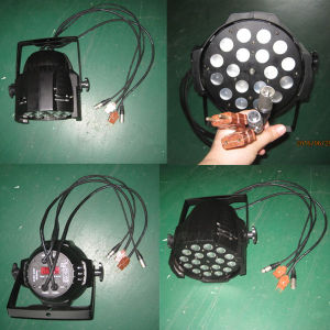 DMX Stage 18X18W LED Wash RGBWA UV 6in1 Zoom PAR 64 pictures & photos