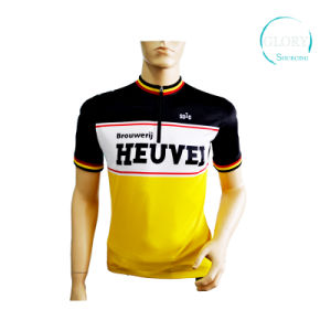100% Polyester Man′s Cycling Jersey with Anti-Bacterial pictures & photos