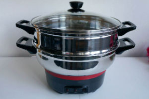 Stainless Steel Kitchenware Electric Non-Stick Steamer Pot&Frypan pictures & photos