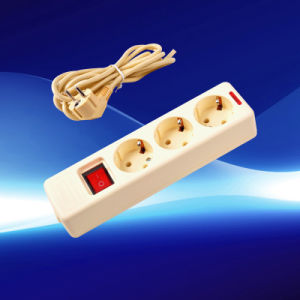 European Extension Socket 3 Gang with Switch (YW5008-K-B-A)