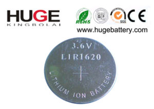 3.6V Lithium Rechargeable Button Cell Lir1620 pictures & photos