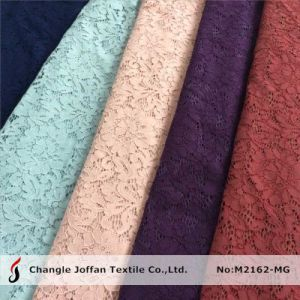 Cotton Flower Lace Fabric for Wedding Dresses (M2162-MG) pictures & photos