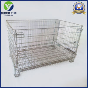 Zinc Plated Wire Mesh Storage Pallet Cage pictures & photos