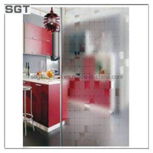 Acid Etched Glass for Kitchen Partition pictures & photos