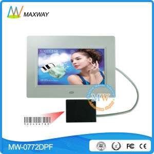 Multifunctional 7 Inch Slim Digital Frame with Infrared Barcode Reader pictures & photos