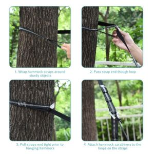 Carries Polyester Hammock Straps Hammock Accessory Customized Tree Straps pictures & photos