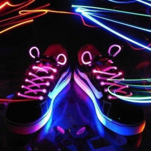 Fiber Optic LED Flashing Shoe Lace Tie for Party Dance pictures & photos