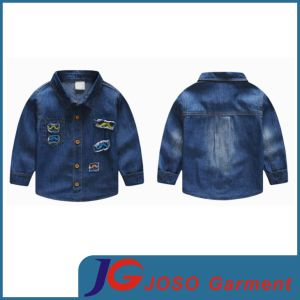 Boy Denim Jean Shirt Children Garment (JT8130) pictures & photos