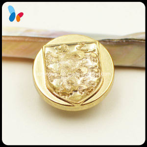 Custom Decorative Embossed Logo Golden Plastic Sewing Button pictures & photos