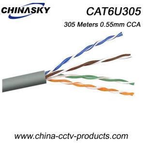 4 Pairs 0.55mm UTP CCA Conductor CAT6 Cable (CAT6U305) pictures & photos