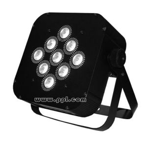 Popular 9PCS Battery&Wireless LED Flat PAR Light pictures & photos