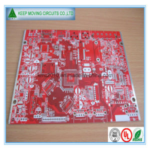 Fr4 4layer PCB Board Red Sodermask PCB Silkscreen Quick-Turn pictures & photos