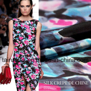 12mm Digital Printed Crepe Silk for Garment Fabric pictures & photos