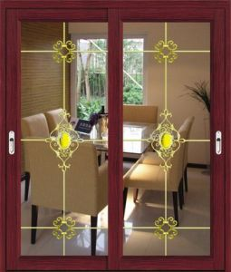 Thermal Insulation Aluminum Wood Grain Finished Sliding Window