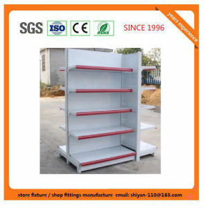 Metal Supermarket Shelf Store Retail Fixture for Angola Market Exhibition Shelf 08153 pictures & photos