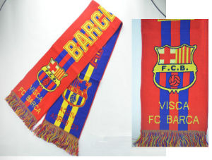 Wholesale Cheap Souvenirs Knitted Jacquard Football Team Soccer Style Fan Scarf pictures & photos