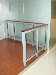 Aluminum Glass Handrail (railings & handrails) pictures & photos