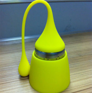 2015 Hot Selling Silicone Tea Infuser with Water Drop Shape pictures & photos