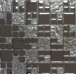 Stone +Gold Color Metal Mosaic for Wall Tile (300X300mm) pictures & photos