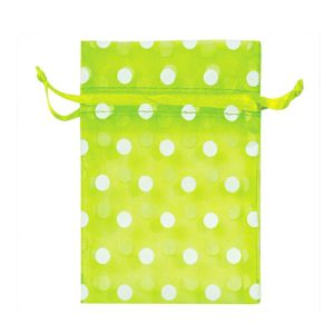 Green Polka Dots Jewellry Drawstring Organza Bags (COB-1134) pictures & photos