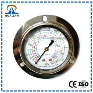 "2.5"" Oil Filled Refrigerant Pressure Gauge with Stainless Steel, Central Back Mount, Edge Mount pictures & photos"