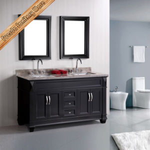 Classic Bathroom Vanity with Double Sinks pictures & photos