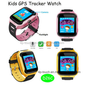 Kids/Child Smart GPS Tracker Watch with Camera and Flashlight D26c pictures & photos