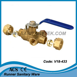 Compression Brass Ball Valve (V18-433) pictures & photos