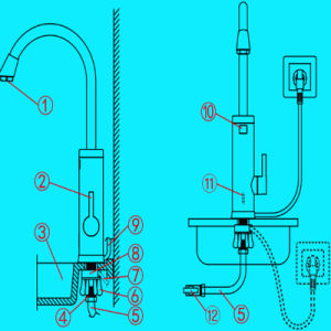 Electric Instant Heating Faucets Basin Mixer pictures & photos