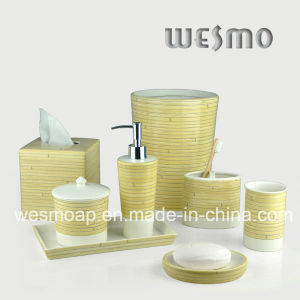 Bambootexture Porcelain Bathroom Set (WBC0712A) pictures & photos