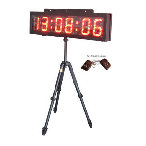"6"" 6 Digits Double Sided Race Timing Clock with Tripod"