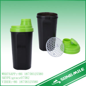 600ml Customized Plastic Protein Shaker Bottle pictures & photos