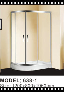 Stainless Steel Frame Sliding Shower Glass Door Shower Enclosure pictures & photos