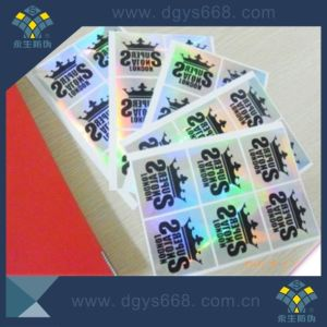 Black Silkscreen Printing Security Holographic Label pictures & photos
