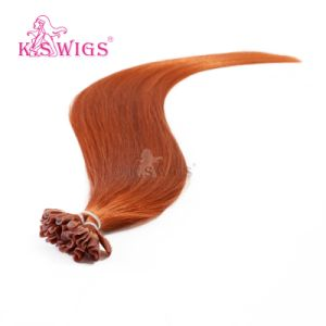 Competitive Price Keratin Hair Extension Indian Human Hair pictures & photos