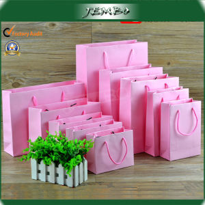Pink Customized Cardboard Paper Packing Bag pictures & photos