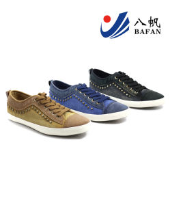 New Arrival Men′s Fashion Canvas Casual Shoes (BFM0372) pictures & photos