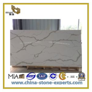 Natural Polished Artificial Quartz Slabs for Countertops/Vanity Top (YQC) pictures & photos