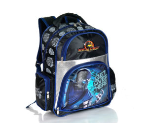 Cross Jacquard Children School Backpack Bag with Printing (BSH-20725) pictures & photos