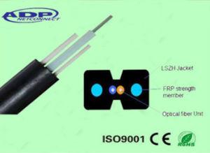 LSZH Sheath Indoor 2 Core FTTH Drop Fiber Optical Cable (GJXFH) pictures & photos